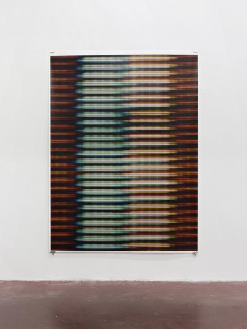 """מתן מיטווך, VII) Blinds), 2015, הזרקת דיו על נייר ארכיבי, 160x3213.5 ס\""""מ. באדיבות גלריה דביר והאמן. צילום: אלעד שריג"""