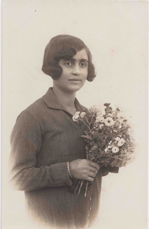 Karimeh Abbud. Photograph of an anonymous young woman, from Issam Nassar's private collection, gift of Ahmad Mrowat, the Nazareth Archive. Courtesy of Issam Nassar
