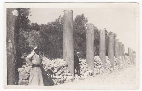 Karimeh Abbud, Nablus, 1925, scanned postcard