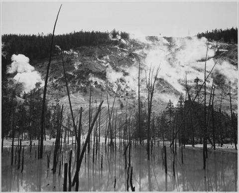 أنسل أدامز، المتنزه الوطني يلوستون، وايومنغ، 1941