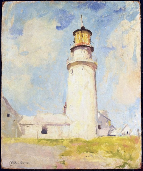 Charles W. Hawthorne, Highland Light, c. 1925, oil on wood, 60.9X50.3 cm