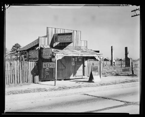 ووكر إيفانس، كشك كوكا كولا في ألاباما، كانون الأول 1935