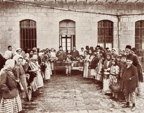 تصادوق بسان، مطعم مجاني، القدس، 1920