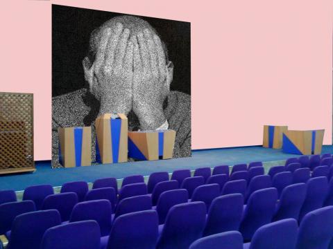 """איתן בן משה וטוני נבוק, \""""לשחרר פרפר\"""", קולאז'ים דיגיטלים, 2015"""