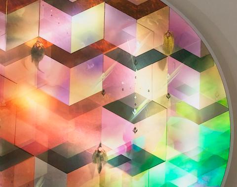 "Eitan Ben Moshe, ""Crystal Cubes,"", Lightbox (detail), 2012"