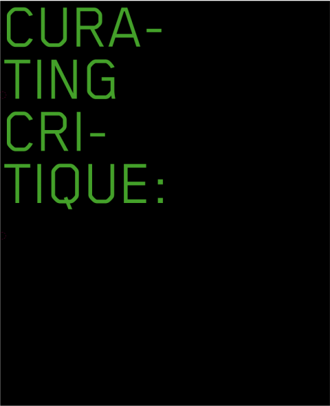غلاف الكتاب، Curating Critique, Frankfurt am Main: Revolver 2007