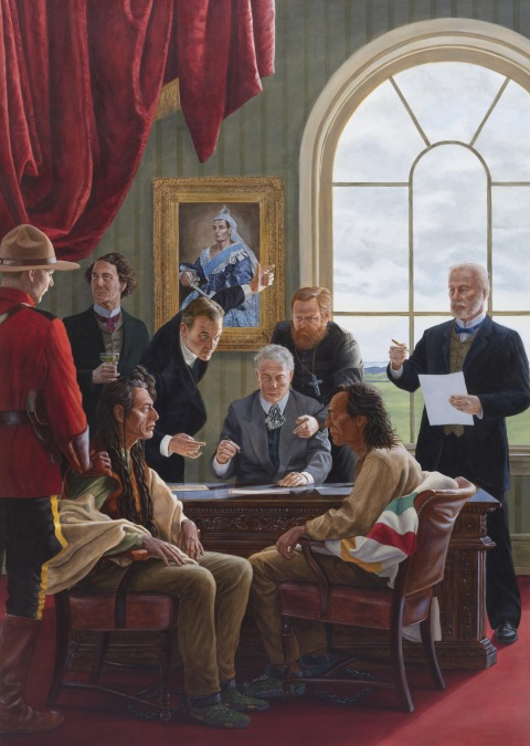 Kent Monkman, The Subjugation of Truth, 2016, Acrylic on canvas, Collection of Donald R. Sobey