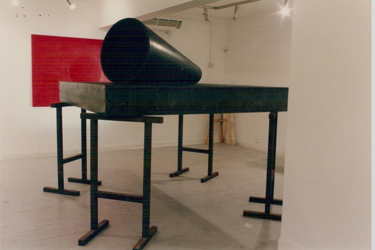 Dov Heller, installation view, Objects of the Revolution, 1995 Hakibbutz Gallery