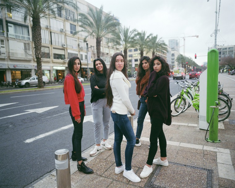 سمر، سجى، مجدولين، سلام وسما، ساحة رابين، تل أبيب، 2019