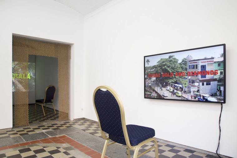 Video installation of Dubai Gold, Coir Kerala. Photograph: Sophie-Therese Trenka-Dalton