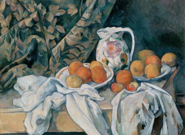 Paul Cézanne, Still Life with Curtain, 1895