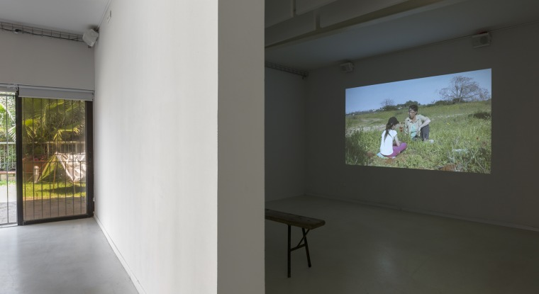 Efrat Galnoor, Calanit, Nurit, and Parag, A Polygamous Zionist Tale, installation view, 2018 From: The Road to Ein Harod #2 – The Coastal Spray Zone, Herzliya Artists' Residence, May 2018 Photography: Lena Gomon Courtesy of Efrat Galnoor