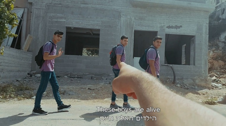 Karam Natour, still from the video Alive, 2018 The Umm el-Fahem Art Gallery