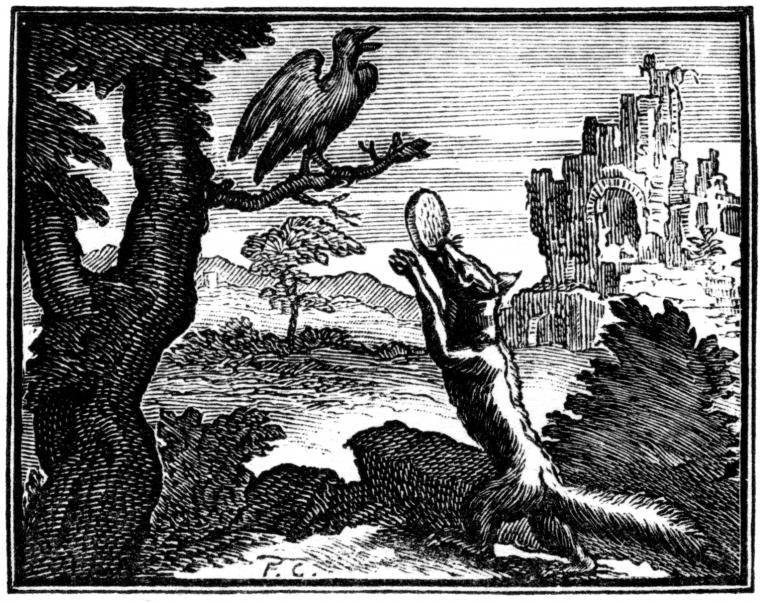פרנסואה שובו, איור למשלים נבחרים מאת ז'אן דה לה פונטיין, קלוד ברבן ודני תיירי, פריז, 1668 (מהדורה ראשונה), 1678-79 (מהדורה שניה), 1694 (מהדורה שלישית)