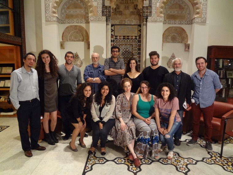 "Cast of MEFI's ""Double Lives"" workshop, held at the Hagop Kevorkian Center for Near Eastern Studies at New York University (Credit: MEFI)"