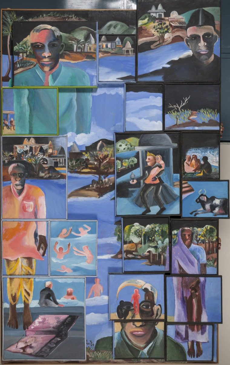 Bhupen Khakhar, Night, 2002 Oil paint on canvas. Courtesy of Kiran Nadar Museum of Art (New Delhi, India)