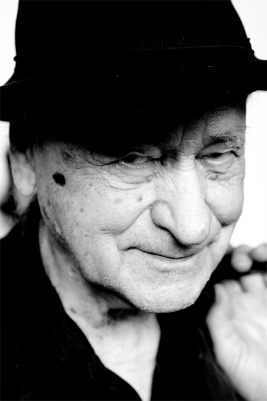 A portrait of Jonas Mekas, shot at the Fondazione Ragghianti in Lucca in 2008