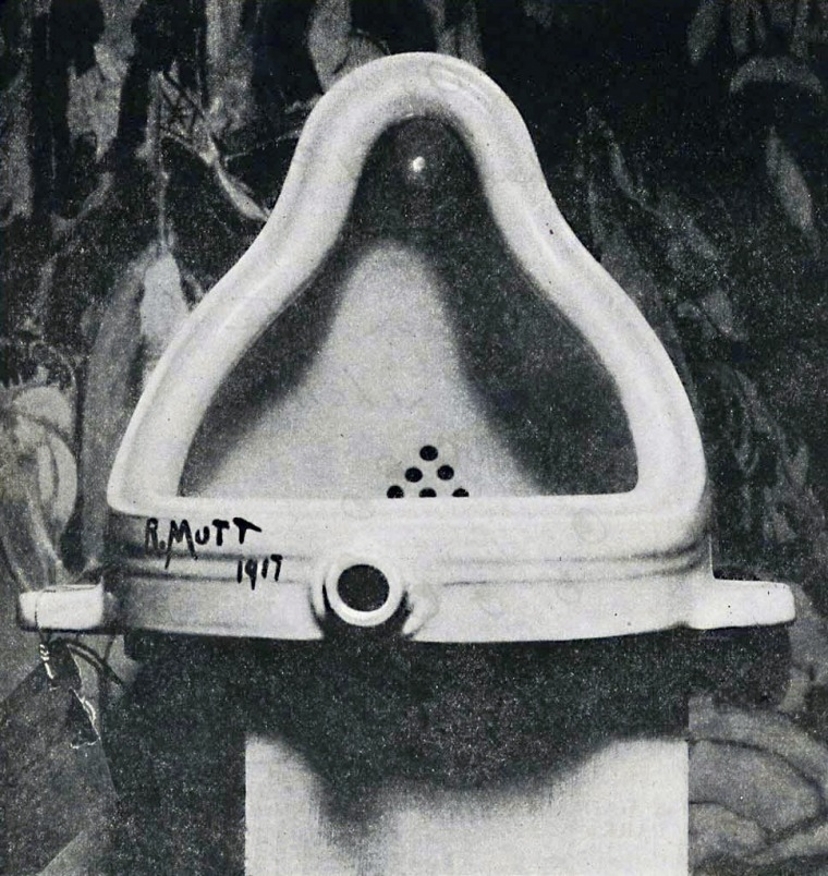 Marcel Duchamp, Fountain, 1917, Photograph by Alfred Stieglitz.