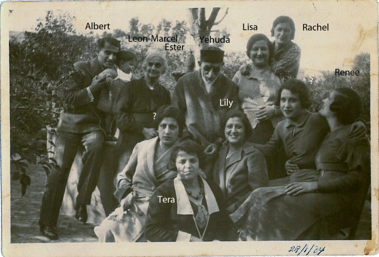 Nahon Family Beirut 1934. From The Mograbi Family Album