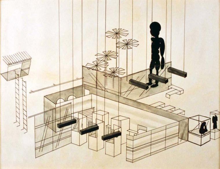 אוהד מרומי, מעבר גבול, טושים על נייר, 2001