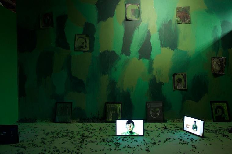 שאשא דותן, מראה הצבה, Another Day: Camouflage Chaos, 2017  באדיבות האמנית