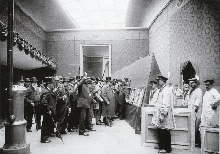 The opening of the first Salon d'Automne in Paris, 1903