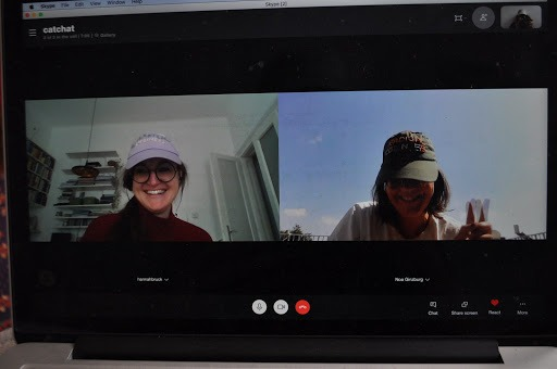 Screenshot of a Skype conversation, October 2020