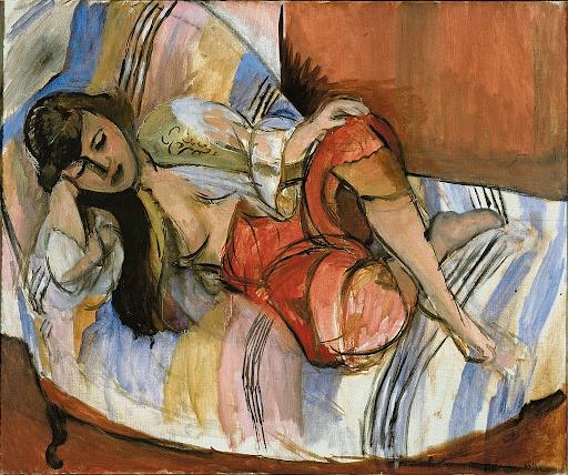 """هنري ماتيس، """"الجارية"""" (أوداليسك)، 1920-21، زيت على قماش، 61.4 × 74.4 سم، متحف ستيديليك"""