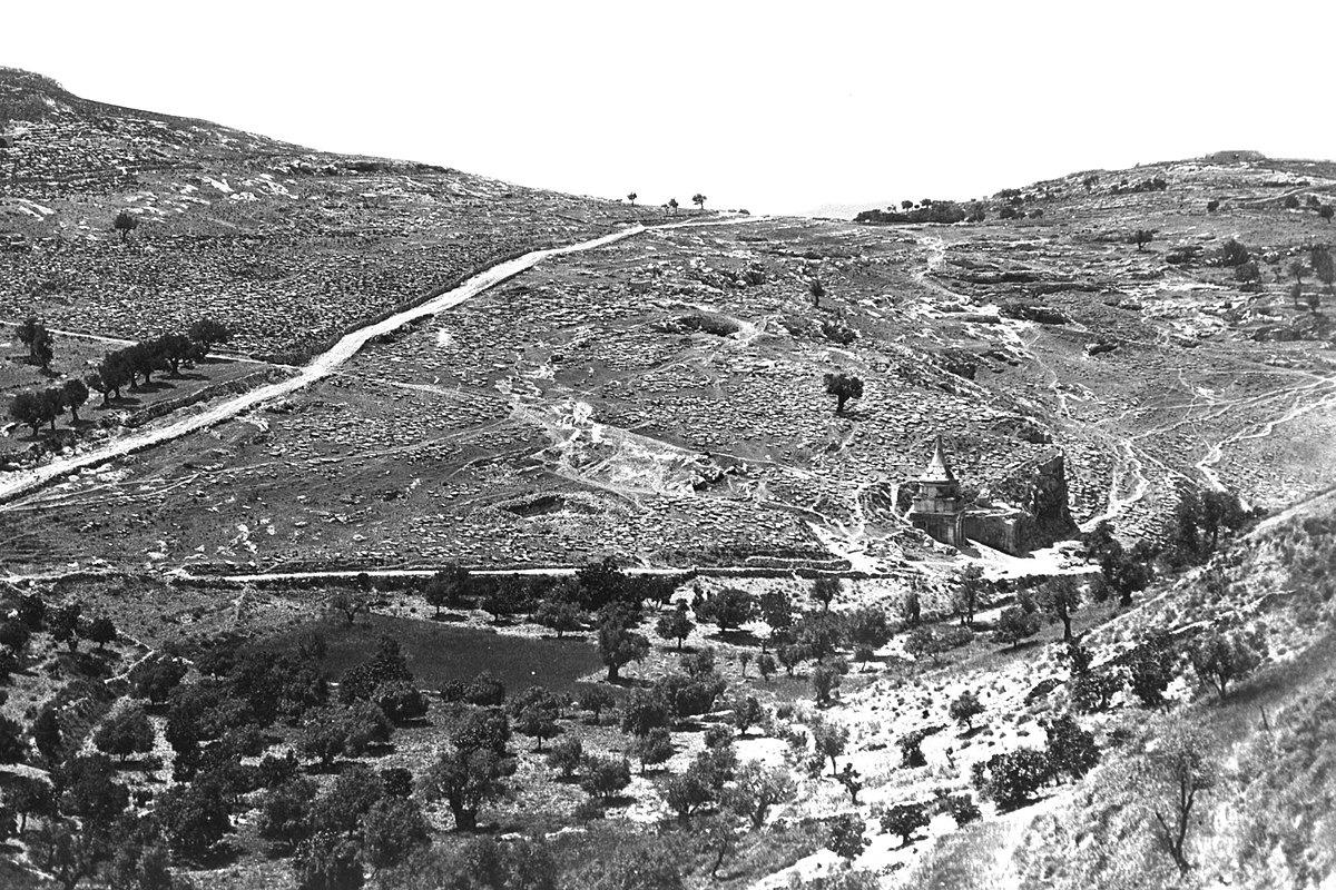 חגי אולריך תוהו, פליקס בונפיס, עמק קדרון והר הזיתים בירושלים, 1880