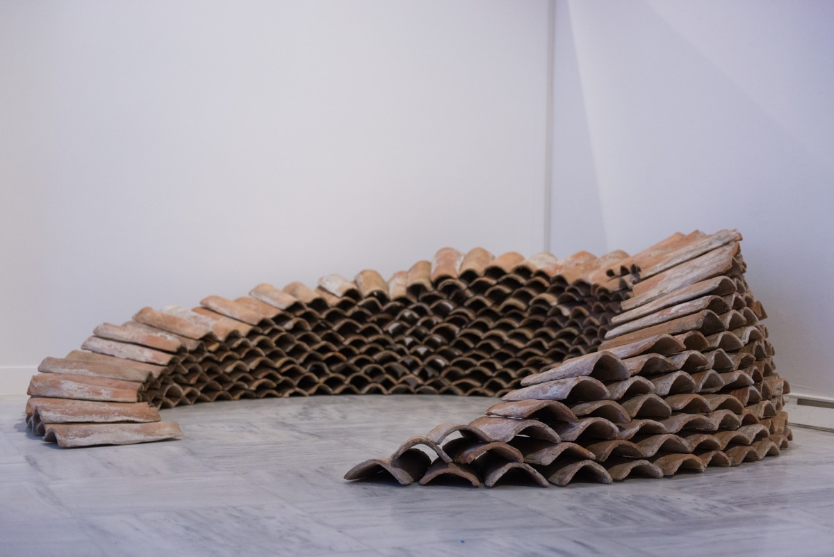 Paolo Incarnato Roof, 2016  Installation with byzantine roof tiles Courtesy of the artist
