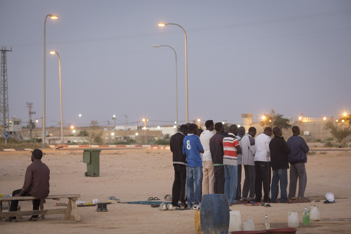 Holot Detention Center, Negev desert, Israel, 5.7.2015