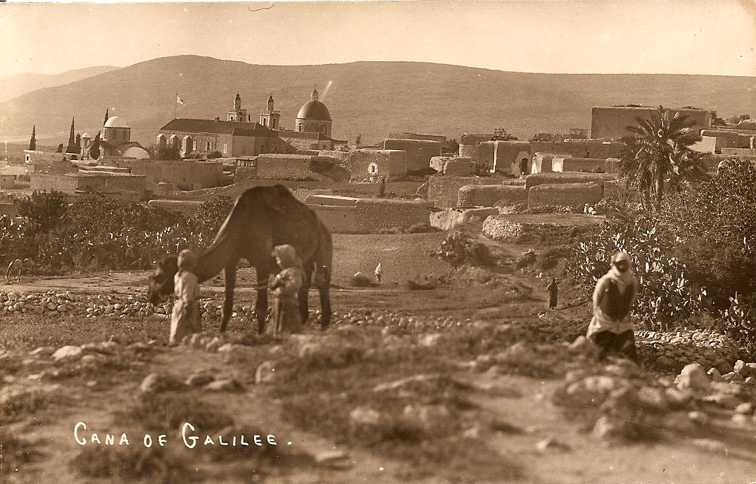 חגי אולריך תוהו, כרימה עבוד, כפר כנא, בערך 1920, גלויה סרוקה
