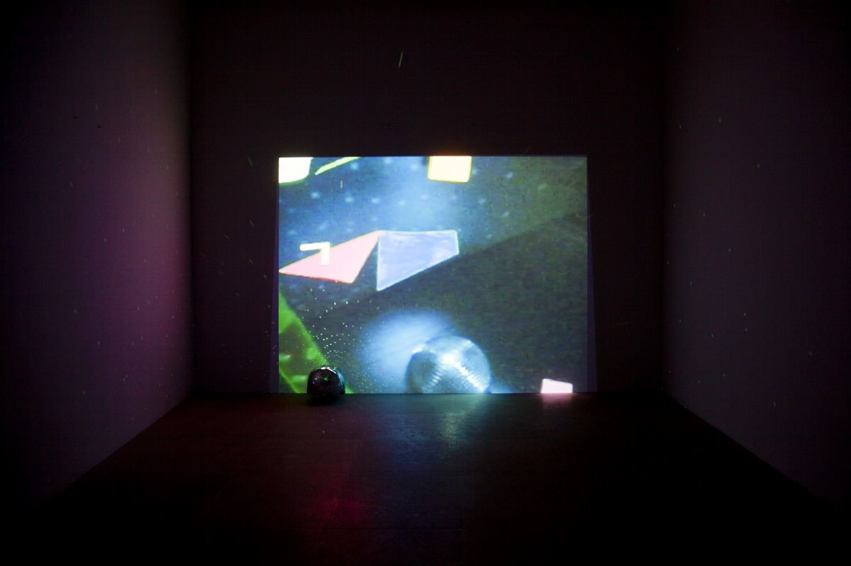 Trisha Baga (b. 1985) Flatlands, 2010 Video, color, sound; 18 min., with disco ball and 3D glasses Collection of the artist; courtesy Greene Naftali Gallery, New York Installation view, Greene Naftali Gallery, New York, 2011 © Trisha Baga and Greene Nafta
