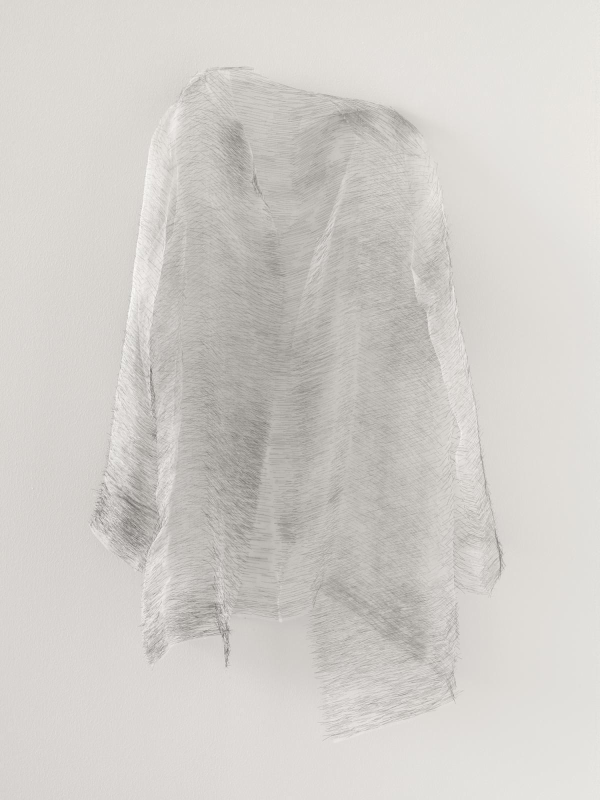 """דוריס סלסדו, Disremembered I, 2014, חוטי משי ומחטי תפירה, 89x55x16 ס""""מ, אוסף דיאן וברוס האלה"""