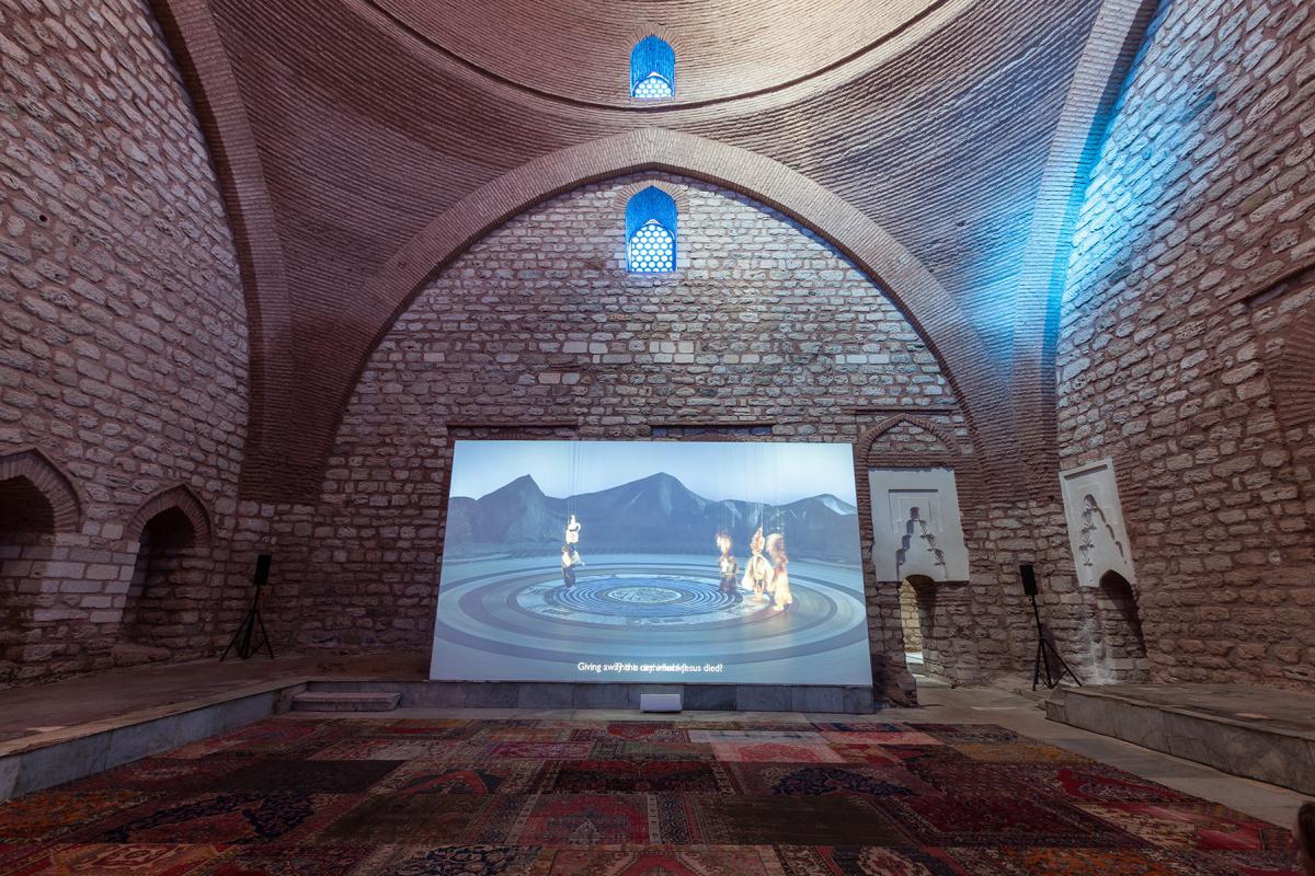 Wael Shawky, The Cabaret Crusades: The Secrets of Karbalaa, 2015 (photo: Sahir Ugur Eren) Courtasy of  IKSV