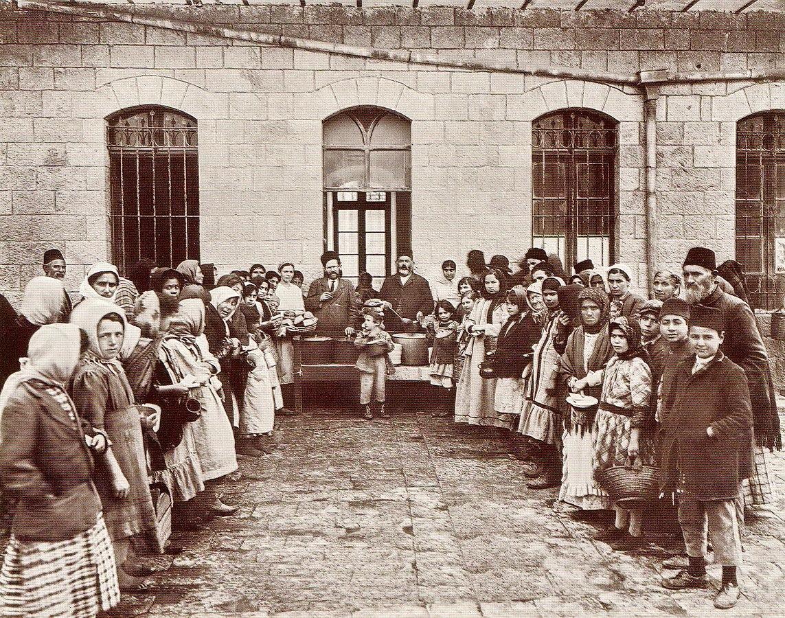 חגי אולריך תוהו, צדוק בסן, בית תמחוי, ירושלים, 1920