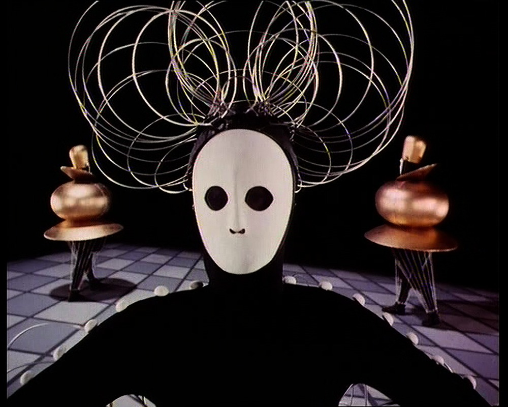 After Oskar Schlemmer (1888–1943) Das Triadische Ballett [Triadic Ballet], 1970 35mm film transferred to video, color, sound; 29 min.  Courtesy Global Screen, Munich Produced by Bavaria Atelier for the Südfunk, Stuttgart, in collaboration with Inter Natio
