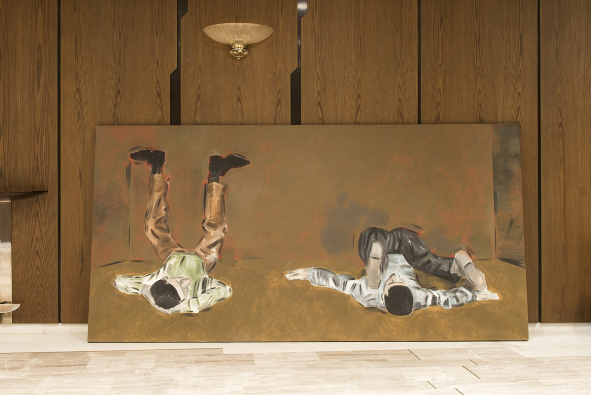 Apostolos Georgiou, Untitled, 2013, acrylic on canvas, Megaron, The Athens Concert Hall, Athens, documenta 14, photo: Angelos Giotopoulos