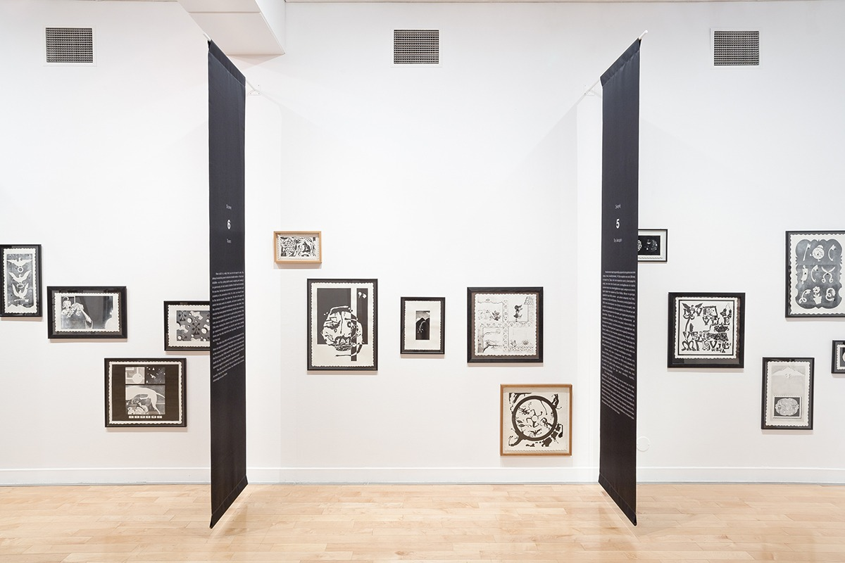 Roee Rosen, Live and Die as Eva Braun, 1995–97, mixed media on paper, installation view, Benaki Museum—Pireos Street Annexe, Athens, documenta 14, photo: Stathis Mamalakis