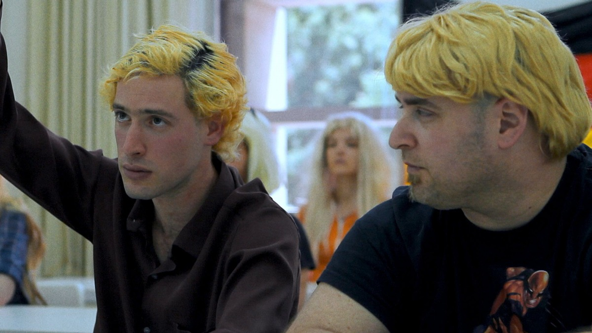 Nadav Bin-Nun (left) as Johann, from the movie The Soft German (2014)