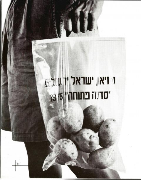 דב הלר, תפוחי אדמה, סדנה פתוחה, מוזיאון ישראל, 1975. אוצר יונה פישר 1