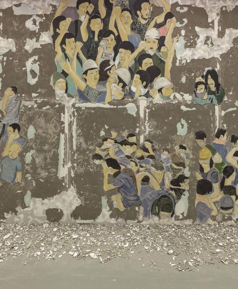 לטיפה אשקש, 2017 ,Crowd Fade