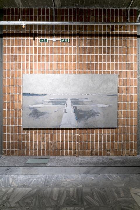 אדי הילה, שדרה 1-6, 2015, שמן על בד  מבט הצבה, טורוואכה, דוקומנטה 14 צילום: מיכאל נסט