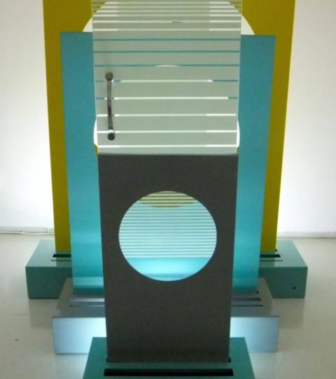 """Toony Navok, """"MEKOROT (sunshine),"""" installation view, 2013"""