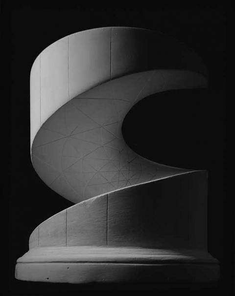 Hiroshi Sugimoto, Mathematical Form 0001 (Helicoid: minimal surface), Silver Gelatinous print, 2004