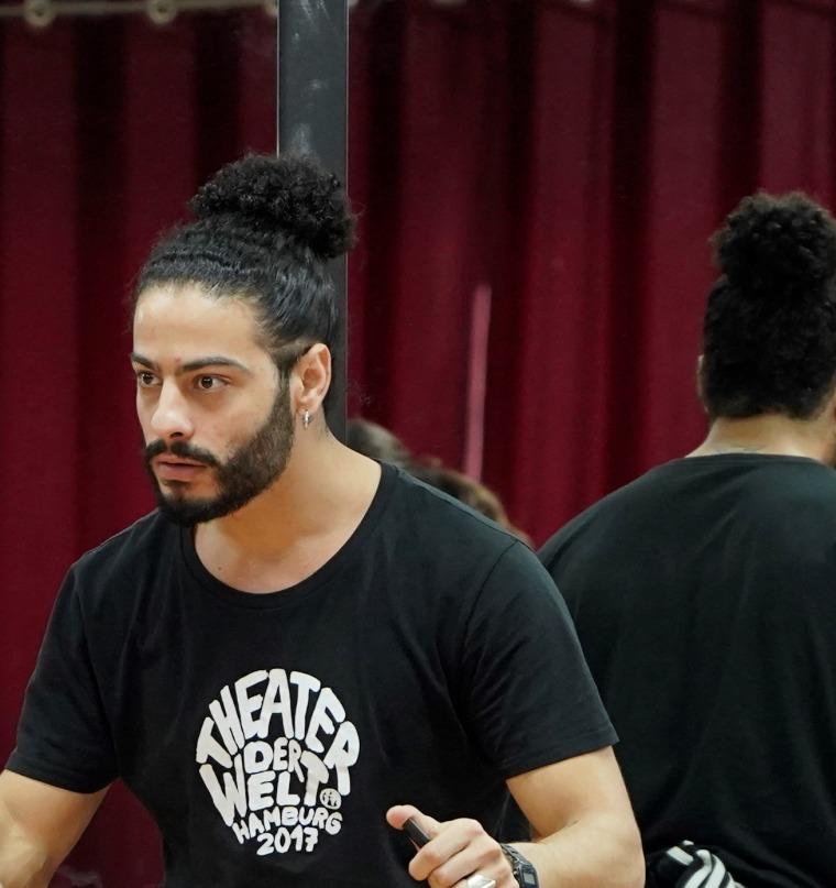 Ayman Safiah, Between Two Worlds. Courtesy of Al-Amal school, Nazareth