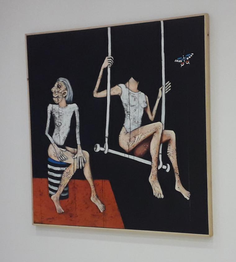 يوسف وهبون، المسدس، المركز الثقافي الفرنسي، الرباط، 2019  كتالوغ من تصوير سيسيل  لاروش كوانيي.