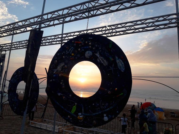 وقت الغروب، منشأة فنيّة لسمير السالمي، 2019 تصوير: لطيفة لبصير