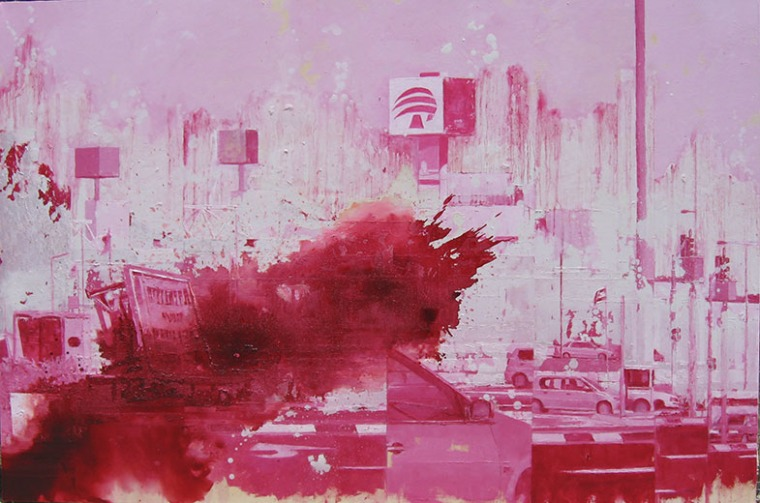 افرات غال-نور، مفترق مشمار هشارون، زيت على خيش، 2007, 120X180 سم. بلطف: افرات غال-نور
