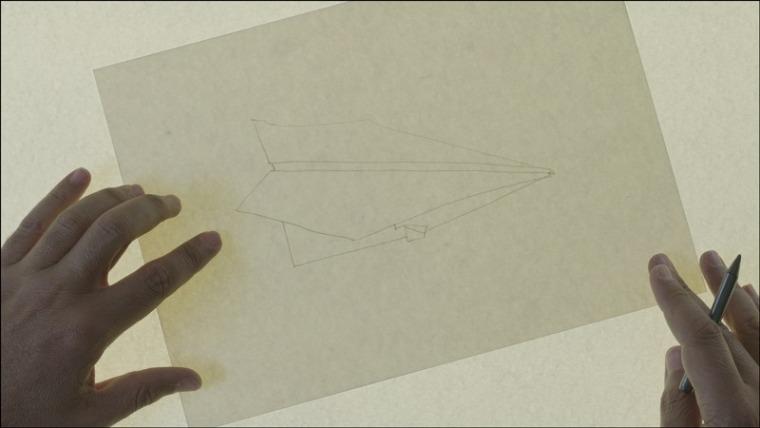 אכרם זעתרי. מכתב לטייס שסירב. 2013 מיצב וידאו וסרטים. באדיבות האמן וגלריה סטייר-סמלר, ביירות